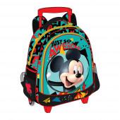 Trolley mochila pré escolar 31cm Mickey - Just So Awesome