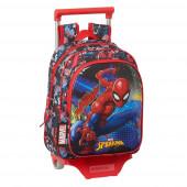 Trolley Mochila Pré Escolar 33cm Spiderman Go Hero