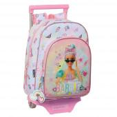 Trolley Mochila Pré Escolar 34cm Barbie Girl Power