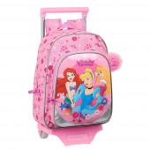 Trolley Mochila Pré Escolar 34cm Princesas Express Yourself