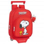 Trolley Mochila Pré Escolar 34cm Snoopy