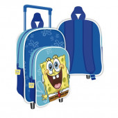 Trolley Mochila Pré Escolar 36cm Sponge Bob