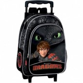 Trolley mochila pré-escolar 37cm - Dragons Defenders