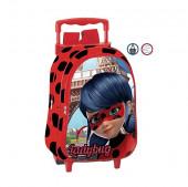 Trolley Mochila pre escolar 37cm Ladybug Amour