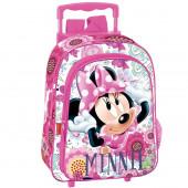 Trolley Mochila pre escolar 37cm Minnie rosa