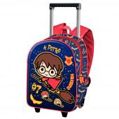 Trolley Mochila Pré Escolar 3D Harry Potter Quidditch 34cm