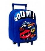 Trolley Mochila pré-escolar azul Blaze 28cm  - Zoom