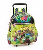 Trolley Mochila  pré-escolar premium 29cm Tartarugas Ninja TMNT