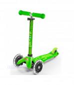 Trotinete Mini Micro Deluxe LED Verde