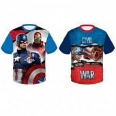 Tshirt Marvel Capitão América Civil War sortida
