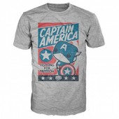 Tshirt POP Marvel Capitão América Freedom