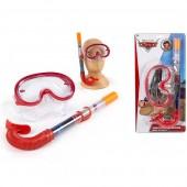 Tubo + óculos de mergulho Cars Disney