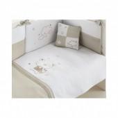 Ursinho Estrela linho - Saco cama + almofada bebé 62x125cm