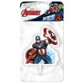 Vela aniversário 2D Capitão América - Marvel