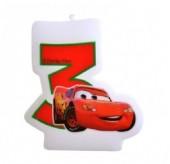 Vela aniversário Cars Nº 3