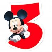 Vela aniversário Mickey Nº 3