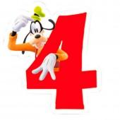 Vela aniversário Mickey Nº 4
