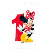 Vela aniversário Minnie Nº 1