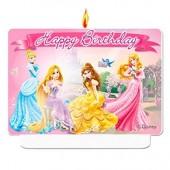 Vela Aniversário Princesas Disney Glamour