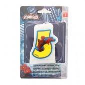 Vela aniversário Spiderman Nº 5