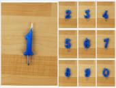 Vela Artesanal Azul 6cm