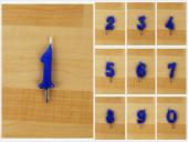 Vela Artesanal Azul Escuro 6cm