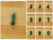 Vela Artesanal Verde 6cm