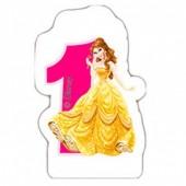 Vela de aniversário Princesas Disney Nº 1