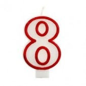 Vela Vermelha Nº 8