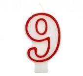 Vela Vermelha Nº 9