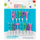 Velas Happy Birthday Coloridas