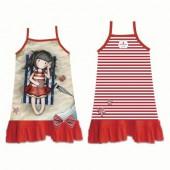 Vestido Praia Gorjuss Vermelho 6-10 anos