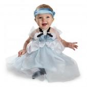 Vestido princesa cinderela deluxe bebé