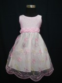 Vestido verão pink tule flowers