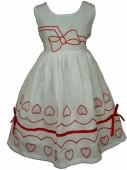 Vestido verão White and Red Heart