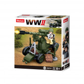 WWII 4 em 1 Army Box 77 pcs Sluban