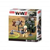 WWII 4 em 1 Army Box 88 pcs Sluban