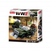 WWII 4 em 1 Army Box 91 pcs Sluban