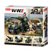 WWII 4 em 1 Army Gift Box 334 pcs Sluban